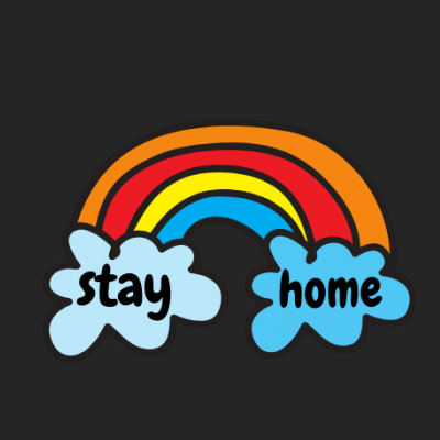Sketch Rainbow Stay Home
