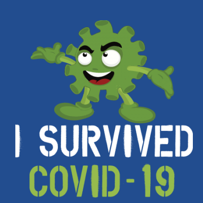 I Survived Covid-19 Germ Cartoon