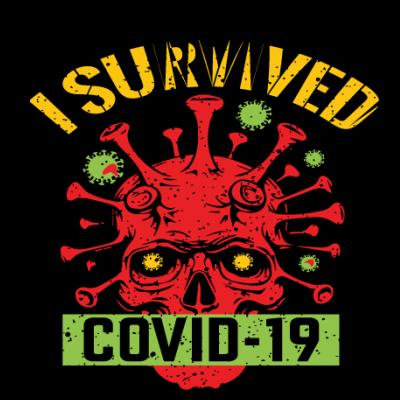 I Survived Covid-19 Skull