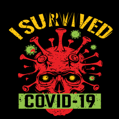 I Survived Covid-19 Skull