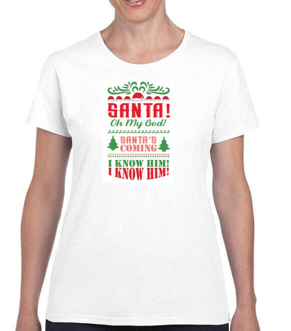 Santa's Coming I Know Him Elf