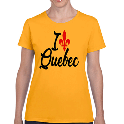 I Love Quebec Red