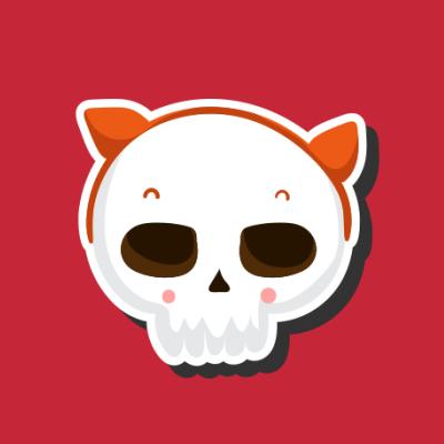 Skull with Halloween Ears