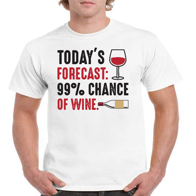 Todays Forecast 99 Chance of Wine