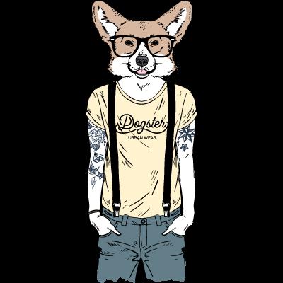 Chien Hipster