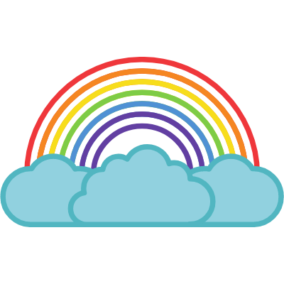 Rainbow with Large Clouds