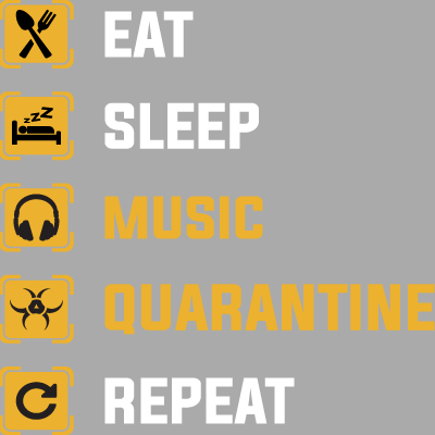 Eat Sleep Quarantine Repeat En