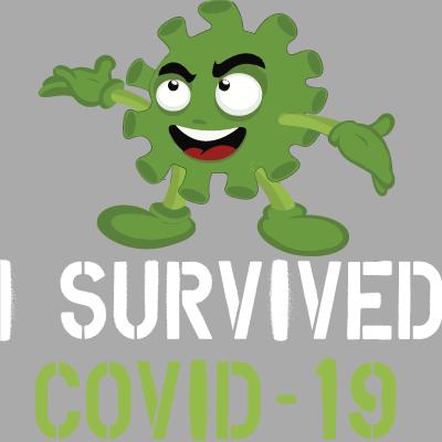 I Survived Covid-19 Germ Cartoon