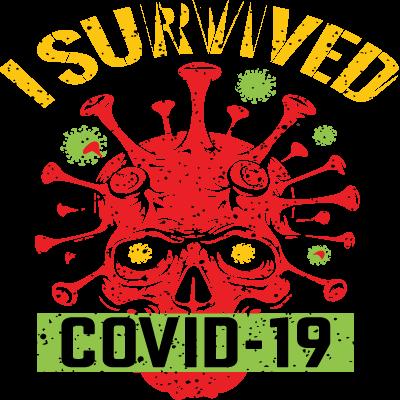 J'ai survécu à Covid-19 Crâne
