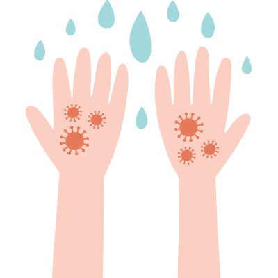 Germes sur les Mains