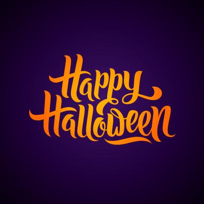 Joyeux Halloween bleu