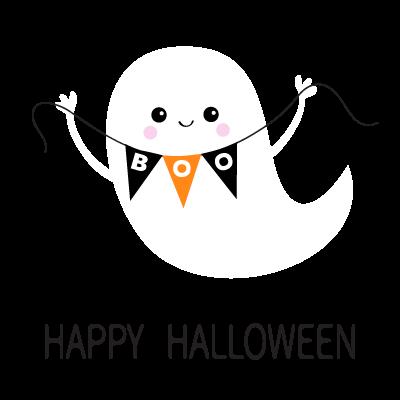 Joyeux Halloween blanc