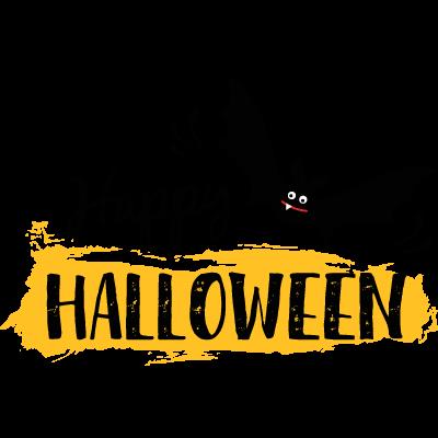 Joyeux Halloween Noir Rouge