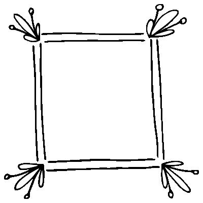 Cadre D'angle De Fleur