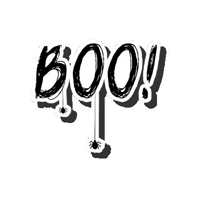 Boo! Black and White
