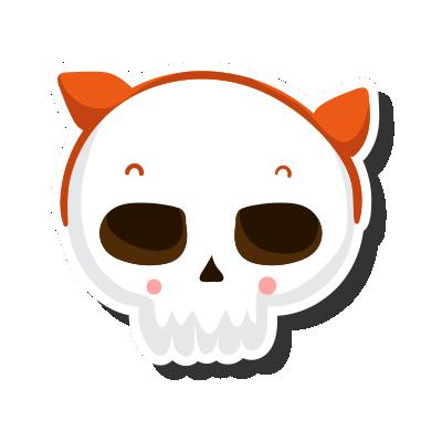 Crâne Avec Oreilles Halloween