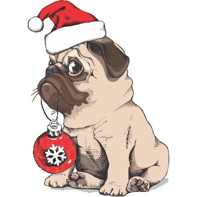Pug de Noël