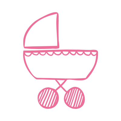 Pink Baby Stroller