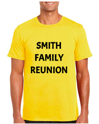 custom family reunion t-shirts