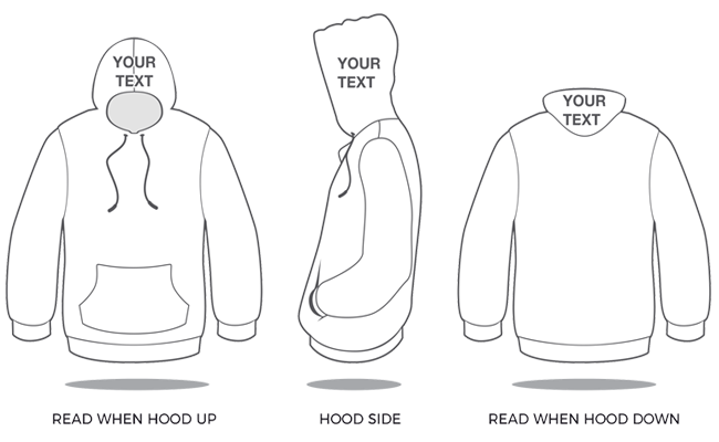 your custom hoodie text