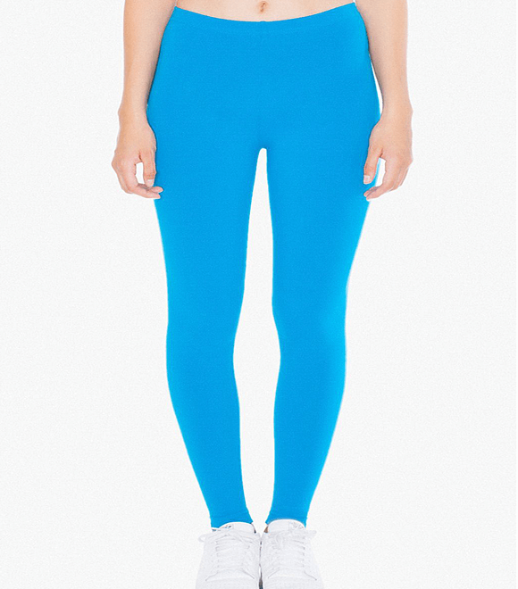 WOMEN COTTON SPANDEX JERSEY LEGGINGS