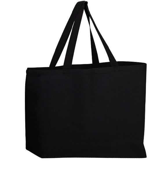 CANVAS GUSSETED JUMBO TOTE