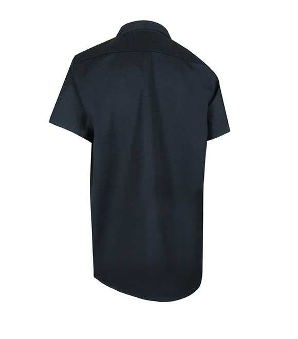 UNLINED SHORT SLEEVE SHIRT WITH PLASTIC BUTTONS