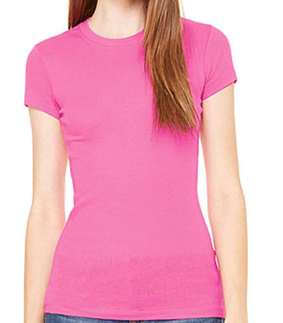 LADIES SHEER MINI RIB S de S TEE