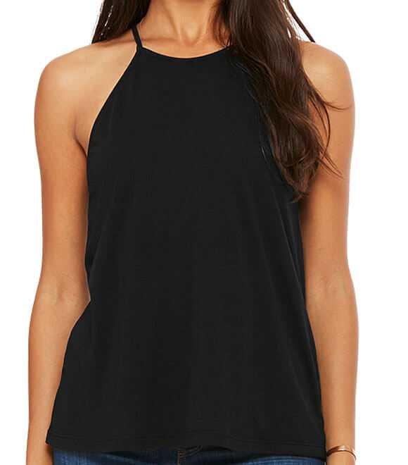 WOMEN FLOWY HIGH NECK TANK