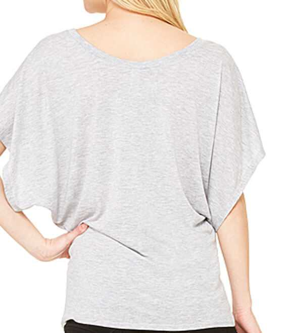 LADIES FLOWY DRAPED SLEEVE DOLMAN TEE
