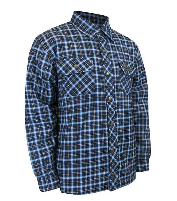 QUILTED FLANNEL SHIRT WITH RUSTPROOF SNAPS