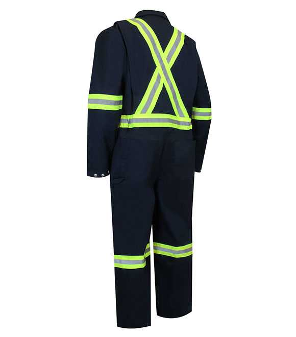 UNLINED COVERALL WITH ZIPPER ON THE LEGS AND REFLE
