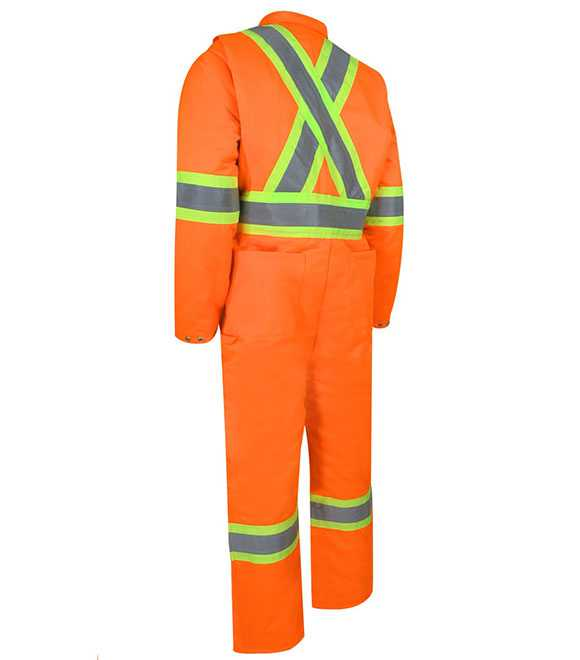 INSULATED COVERALL WITH ZIPPER ON THE LEGS AND REF