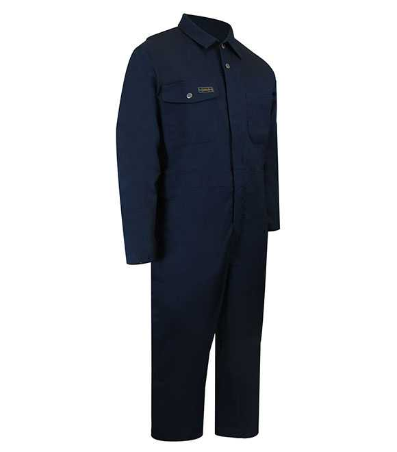UNLINED COVERALL WITH ZIPPER ON THE LEGS