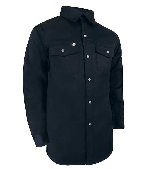 UNLINED LONG SLEEVE SHIRT WITH RUSTPROOF SNAPS. TA