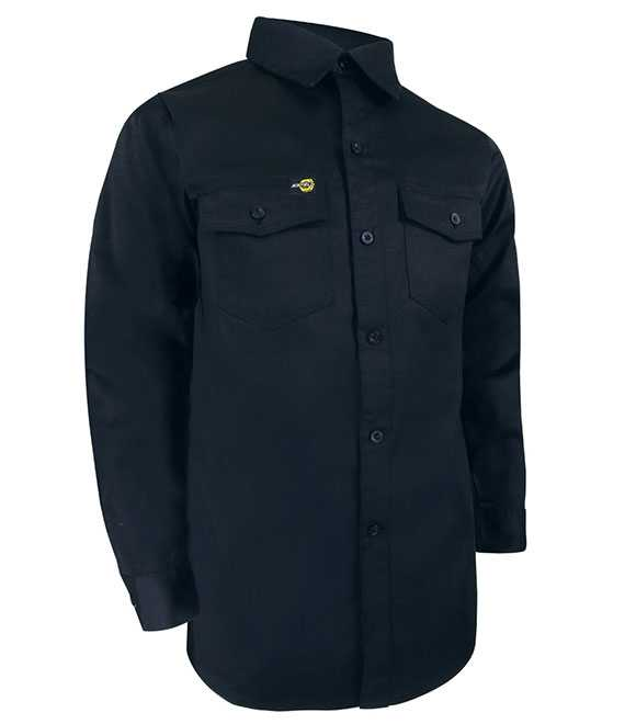 UNLINED LONG SLEEVE SHIRT WITH PLASTIC BUTTONS. TA