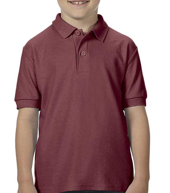 YOUTH DRIBLEND DOUBLE PIQUE SPORT SHIRT