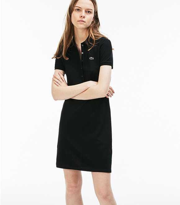WOMENS STRETCH MINI PIQUe POLO DRESS