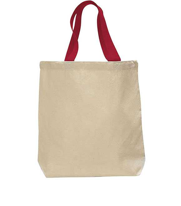 CANVAS TOTE COLOUR HANDLES