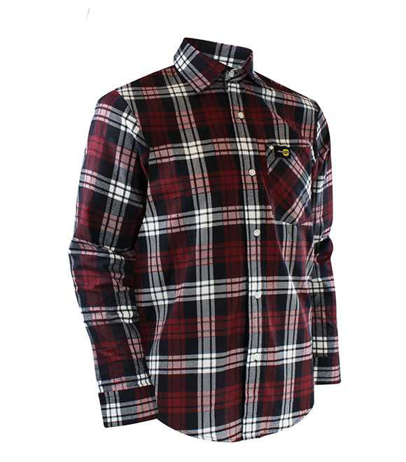 FLANNEL SHIRT WITH REGULAR PLASTIC BUTTONS